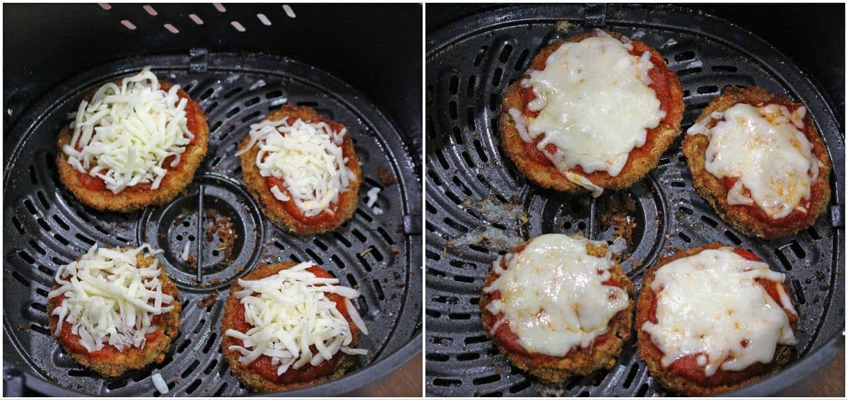 eggplant cutlet with sauce and cheese