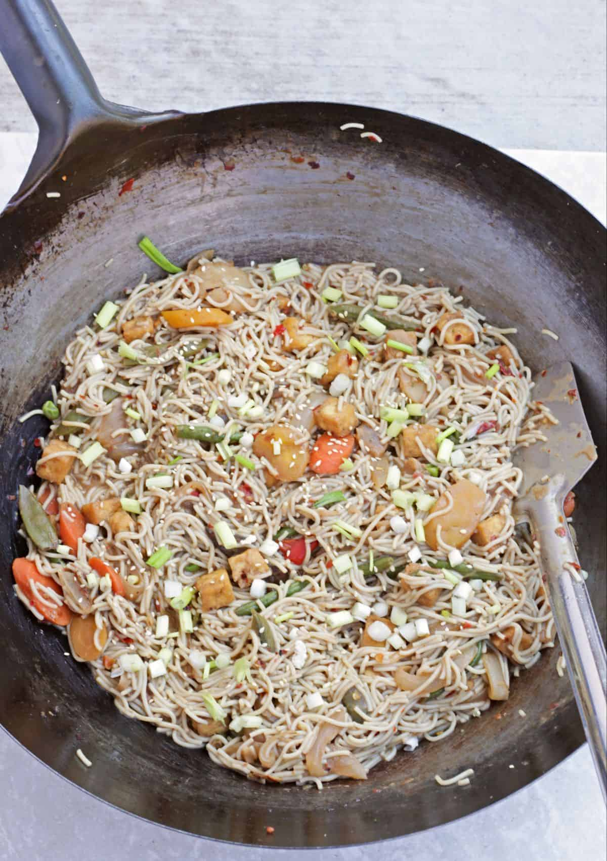 Thai Noodles in a wok